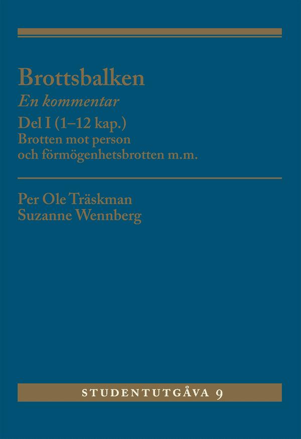 Brottsbalken Del I (1-12 kap.)