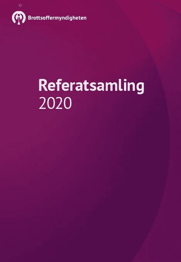 Brottsoffermyndighetens referatsamling 2020