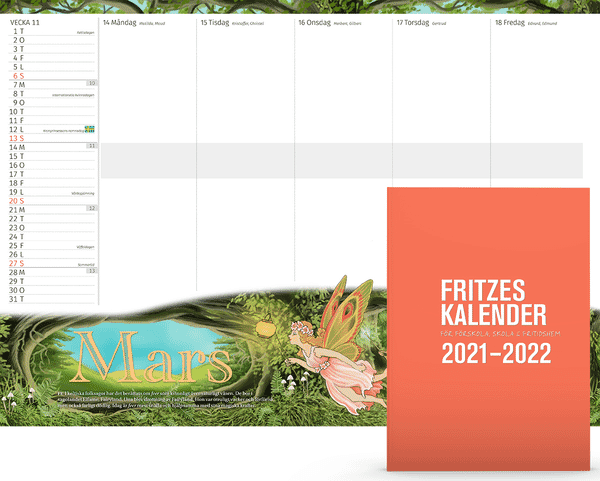 Planeringskalender för förskola och fritidshem & Fritzes kalender för förskola, skola och fritidshem 2021/2022 Paket